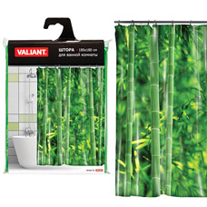 Штора для ванной Valiant GH Бамбуковые джунгли, 180х180смТовары для ванной комнаты<br><br>