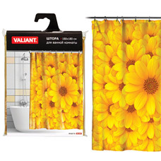 Штора для ванной Valiant YS Желтые цветы, 180х180смТовары для ванной комнаты<br><br>