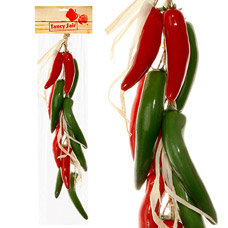 Муляж Fancy Fair RP60G  Перец чили в связке, зеленый и красный, 60смТовары для декора<br><br>