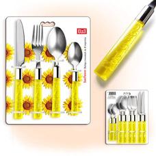 Набор столовых приборов Else Sun YT-12s прозрачные ручкиСтоловые приборы<br><br>