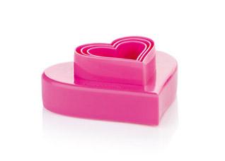 Двухсторонние формочки сердечки Delicia, 6 размеров, Tescoma 630862Выпечка<br><br>