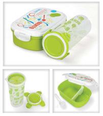 Термо ланч-бокс с бутылкой Bento детскийХранение продуктов<br><br>