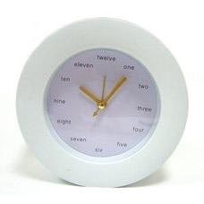 Часы будильник настольные Английские белые арт. 91658Сувениры<br><br>