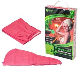 Махровый комплект для женщин Банные штучки 32253Все для бани<br><br>