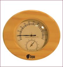 Термометр с гигрометром Банная станция Банные штучки 18022Все для бани<br><br>