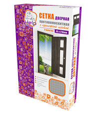 Сетка-штора на дверь противомоскитная с крепежной лентой 45х210 см Help 80003Средства против вредителей<br><br>