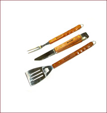 Набор (вилка, лопатка, щипцы) Boyscout 61318Шашлык, барбекю<br><br>