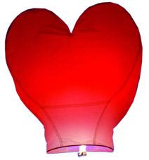 Фонарик небесный, летающий 38x95x95 Сердце Orange 82101Товары для пикника<br><br>