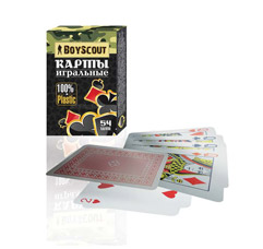 Карты игральные пластиковые, в колоде 54 шт. Boyscout 61452Товары для пикника<br><br>