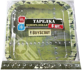 Бумажная тарелка 23х23 см, 6 шт. Boyscout 61701Товары для пикника<br><br>