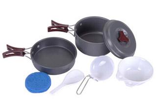 Набор алюминиевой посуды с антипригарным покрытием для кемпинга на 1-2 персоны Boyscout 61166Посуда для туризма<br><br>