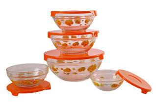 Набор стеклянных салатников Irit GLSA-5-001Сервировка стола<br><br>