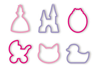 Формочки для девочек Delicia Kids, 6 шт., Tescoma 630920Tescoma для детей<br><br>