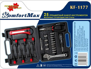 Набор инструментов KomfortMax KF-1177, 25 предметовСтроительные инструменты<br><br>