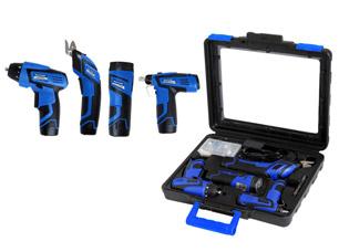 Набор инструментов Master Thomas MT-9004 (дрель-шуруповерт, винтоверт, ножницы, фонарь)Строительные инструменты<br><br>