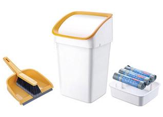 Мусорное ведро Clean Kit 21 л, со щеткой, совком и мешками Tescoma 900685Организация и уборка кухни<br><br>