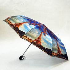 Зонт-автомат женский Ame Yoke ОК58-2-2 фотосатинЗонты<br><br>