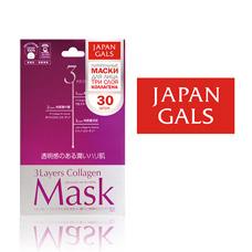 Japan Gals Маска 3 видами коллагена 30 шт арт. 22BM21, 8383Маски<br><br>