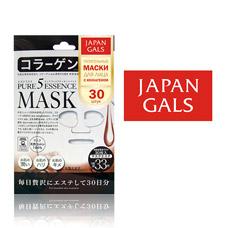 Japan Gals Маска с коллагеном Pure5 Essential 30 шт арт. 24AM21, 6570Японская косметика<br><br>