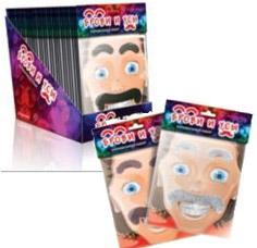 Карнавальный набор Брови и усы Partymania Т0803Товары для праздника<br><br>