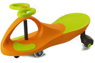 Машинка детская, Бибикар с полиуретановыми колесами, салатово-оранжевая Bradex DE 0058игрушки<br><br>
