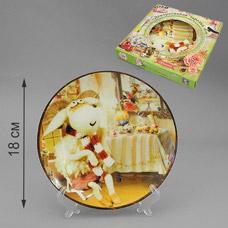 Тарелка с подставкой Дом овечки 18 см Larange 515-608Сервировка стола<br><br>