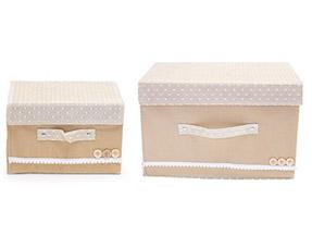 Комплект декоративных коробочек Trendy для хранения, светло-коричневыйТовары для гардероба<br><br>