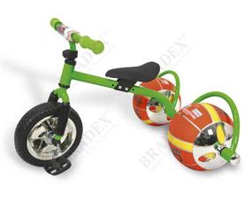 Велосипед с колесами в виде мячей Баскетбайк Bradex DE 0051 зеленыйспорт<br><br>