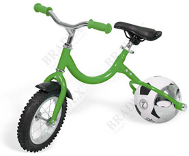 Беговел с колесом в виде мяча Велоболл Bradex DE 0103 зеленыйспорт<br><br>