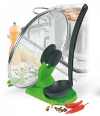 Подставка для крышки и ложки зеленая Помогайка Bradex TK 0124TV товары для кухни<br><br>