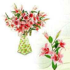 Лилия розовая микс, 100см Fancy Fair LL100RТовары для декора<br><br>