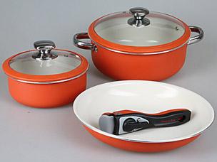 Набор посуды PomidOro Terracotta Conveniente Set с керам. покр.Посуда<br><br>