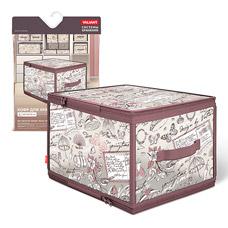 Кофр для хранения с застёжкой-молнией, 40x30x25см, Romantic Valiant RM-ZIP-LТовары для гардероба<br><br>