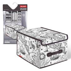 Короб стеллажный с крышкой, большой, 30x40x25см, Expedition Valiant EX-BOX-LMТовары для гардероба<br><br>