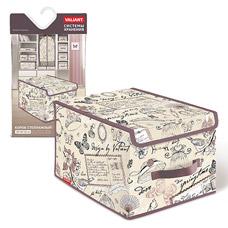 Короб стеллажный с крышкой, большой, 30x40x25см, Romantic Valiant RM-BOX-LMТовары для гардероба<br><br>