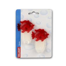 Крючок самоклеющийся набор 2шт. Рыбка красный Valiant 04PТовары для ванной комнаты<br><br>