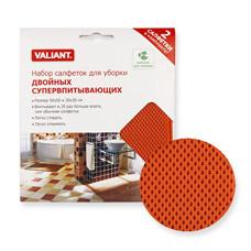 Набор салфеток для уборки двойных супервпитывающих, 2шт. (50х50см и 30х30см) Valiant 211-RASТовары для уборки<br><br>