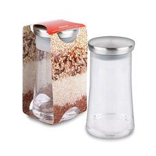 Банка Alanya стекл с металл крышкой 11,5x11,5x20,7 1300 мл Else 546-2Хранение продуктов<br><br>