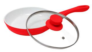 Сковрода антипригарная Welen YummY красная с керамическим покрытиемКерамические сковороды<br><br>
