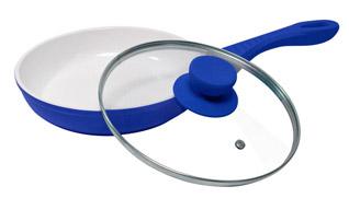 Сковрода антипригарная Welen YummY синяя с керамическим покрытиемКерамические сковороды<br><br>