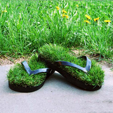 Тапочки-сланцы с травой Зеленая лужайка 31Век D191201-MКомфорт для ног<br><br>