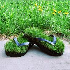 Тапочки-сланцы с травой Зеленая лужайка 31Век D191201-LКомфорт для ног<br><br>