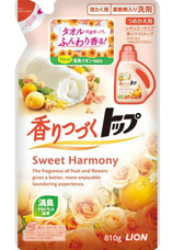 Жидкое ср-во Lion Top Sweet Harmony для стирки белья со сладк.цветоч.аром./810гр 4903301215769Бытовая химия<br><br>