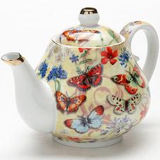Заварочный чайник Lorraine LR-24558, 1л БабочкиЗаварочные чайники<br><br>