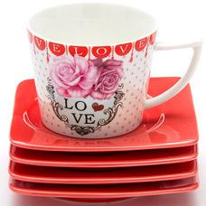 Чайный набор Lorraine LR-24696, 8пр 0.23л I love youСервировка стола<br><br>