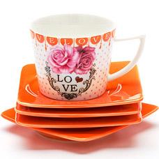Чайный набор Lorraine LR-24698, 8пр 0.23л I love youСервировка стола<br><br>