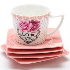 Чайный набор Lorraine LR-24697, 8пр 0.23л I love youСервировка стола<br><br>