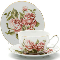Чайная пара Lorraine LR-24599, 2пр 250мл ЦветокСервировка стола<br><br>