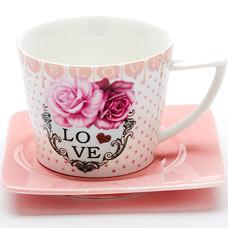 Чайная пара Lorraine LR-24709, 2пр 230мл I love youСервировка стола<br><br>