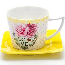 Чайная пара Lorraine LR-24711, 2пр 230мл I love youСервировка стола<br><br>